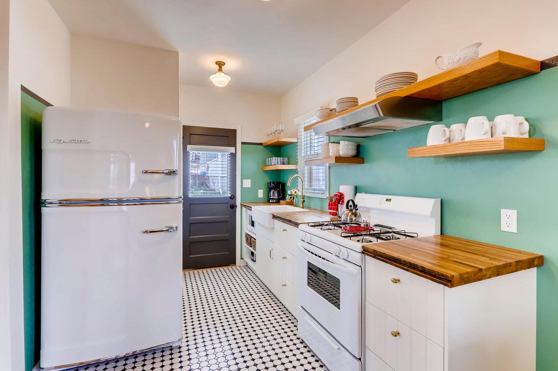 kitchen of cottage