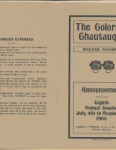 Colorado Chautauqua bulletin 1905