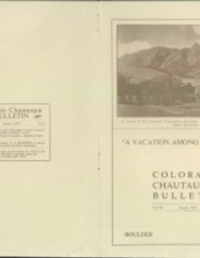 Chautauqua bulletin