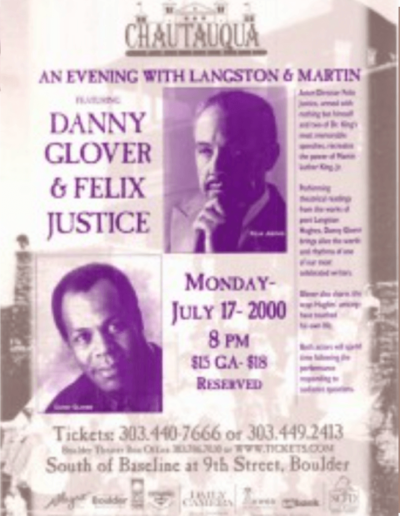 Danny Glover and Felix Justice 2000
