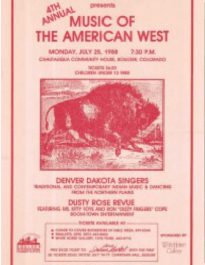4th-Annual Music of the West 1988