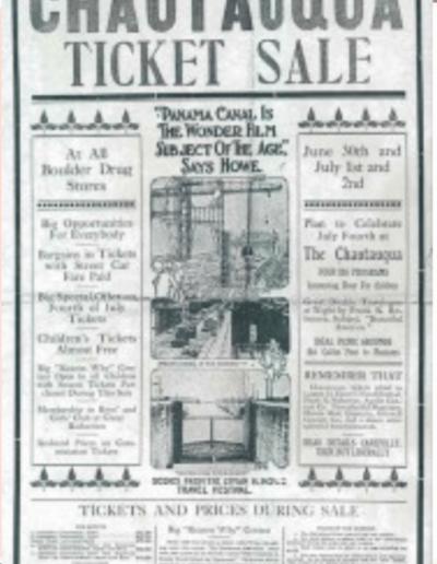 Chautauqua Ticket Sale