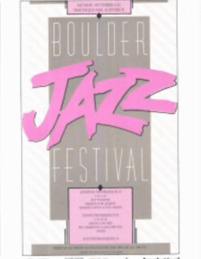 Boulder Jazz Festival -1986