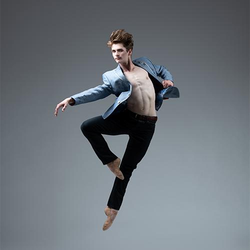 Male ballet dancer striking a pose
