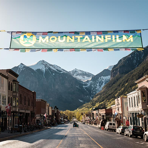 Mountain film banner
