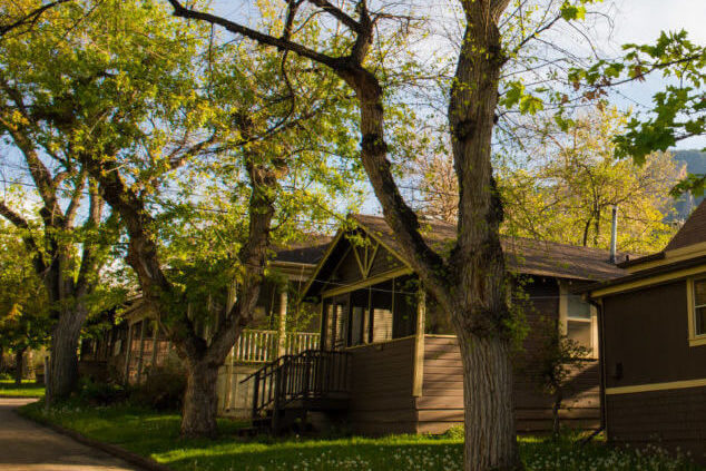 Row of Chautauqua cottages summer